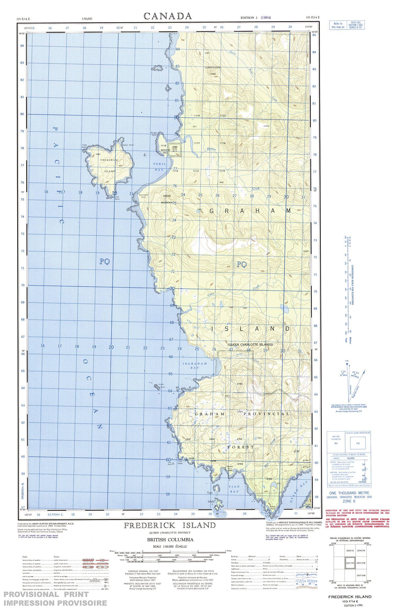 103f14e Frederick Island Topographic Map