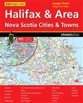 Halifax & Area Nova Scotia Road Atlas.Includes the communities of Amherst, Antigonish, Baddeck, Bedford, Bible Hill, Bridgewater, Brookside, Chester, Coldbrook, Dartmouth, Digby, Dominion, Glace Bay, Greenwood, Halifax, Harrietsfield, Hatchet Lake, Herrin