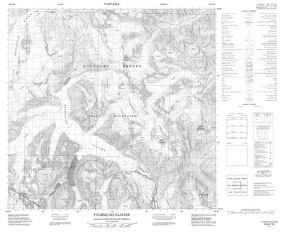 104K13 - TULSEQUAH GLACIER - Topographic Map