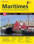 Maritimes Canada Back Road Travel Atlas. The Maritimes Canada Road Atlas is current, easy to read and is packed full of features including provincial maps, city area maps, city center maps, Atlantic Canada time zones map, Atlantic Canada distance chart, C