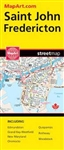 Fredericton & Saint John NB travel and road map. A must have for anyone travelling in this area of New Brunswick. Includes the communities of Edmundston, Fredericton, Grand Bay-Westfield, Kings County, Madawaska, New Maryland, Oromocto, Quispamsis, Rothes