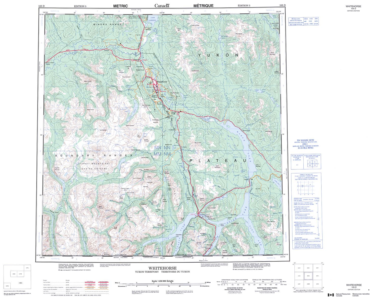 105d Whitehorse Topographic Map