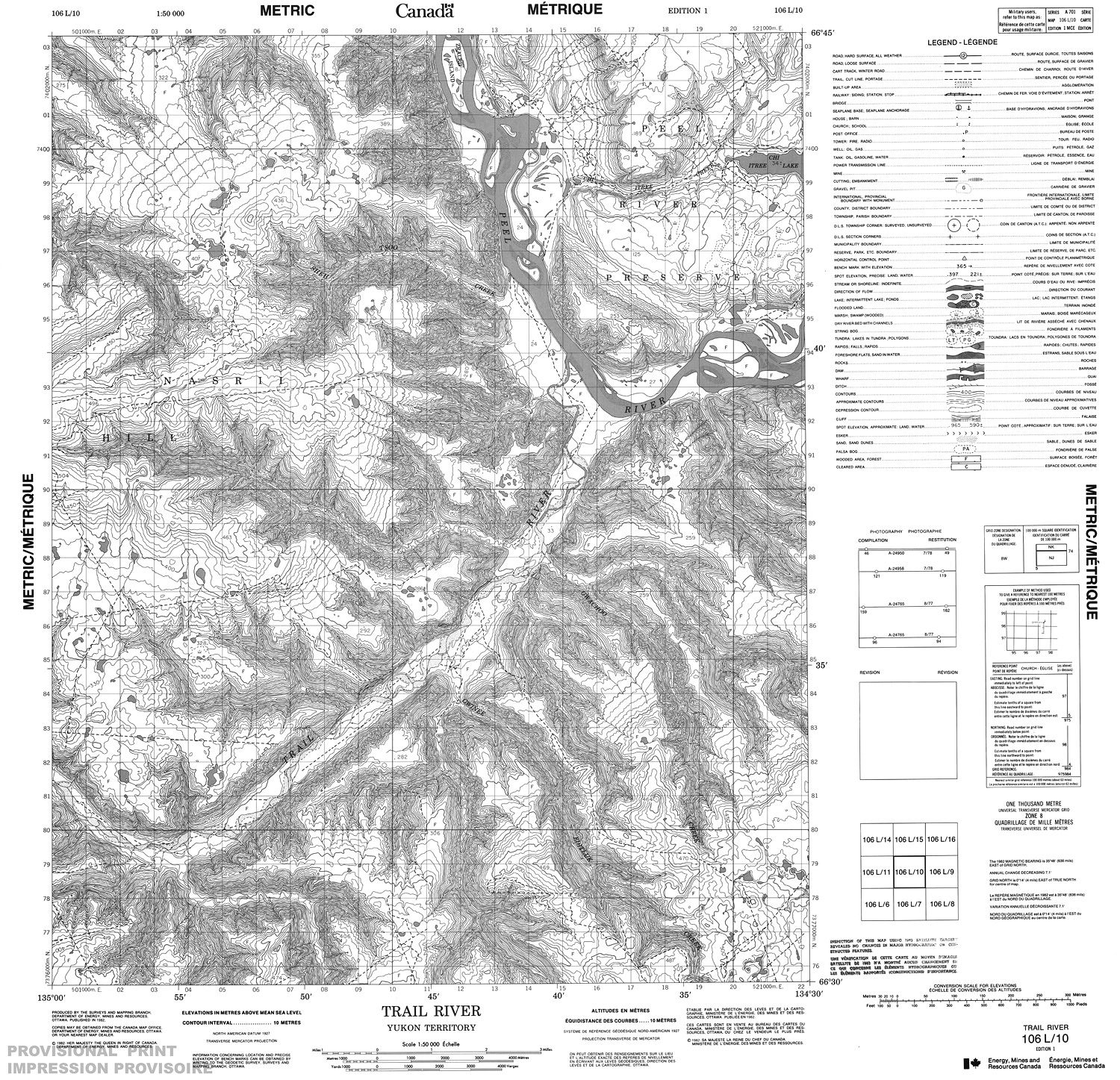 106L10 - TRAIL RIVER - Topographic Map
