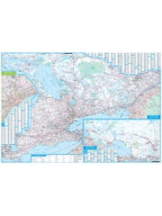 Ontario Wall Map Laminated. Inset map of the GTA. Includes an index map to quickly find locations. Wake up your walls with a colorful, contemporary wall map of Ontario. A combination of bold colours and detailed cartography makes this map stand out in any