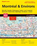 Montreal & Area travel atlas. A full colour bilingual street atlas of Montreal and Environs. Ideal for anyone travelling, working or living in this area. Includes Large Print Maps and Index/ Cartes et Index a Gros Characters Postal Code Map