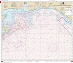 NOAA Chart 1115A. Nautical Chart of Cape St. George to Mississippi Passes - Oil and Gas Lease Areas - Gulf of Mexico. NOAA charts portray water depths, coastlines, dangers, aids to navigation, landmarks, bottom characteristics and other features, as well