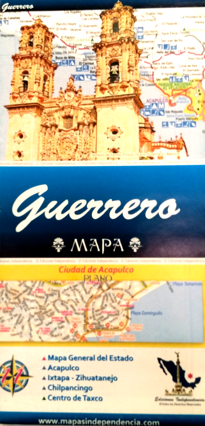 Guerrero Mexico State And Major Cities Map