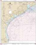 NOAA Chart 1117A. Nautical Chart of Galveston to Rio Grande - Oil and Gas Lease Areas - Gulf of Mexico. NOAA charts portray water depths, coastlines, dangers, aids to navigation, landmarks, bottom characteristics and other features, as well as regulatory,
