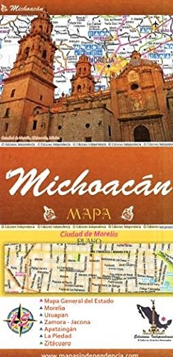 Michoacan, Mexico, State and Major Cities map