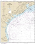 NOAA Chart 11300. Nautical Chart of Galveston to Rio Grande - Gulf of Mexico. NOAA charts portray water depths, coastlines, dangers, aids to navigation, landmarks, bottom characteristics and other features, as well as regulatory, tide, and other informati