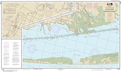 NOAA Chart 11303. Nautical Chart of Intracoastal Waterway Laguna Madre - Chubby Island to Stover Point, including The Arroyo Colorado - Gulf of Mexico. NOAA charts portray water depths, coastlines, dangers, aids to navigation, landmarks, bottom characteri