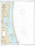 NOAA Chart 11304. Nautical Chart of Northern part of Laguna Madre - Gulf of Mexico. NOAA charts portray water depths, coastlines, dangers, aids to navigation, landmarks, bottom characteristics and other features, as well as regulatory, tide, and other inf