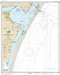 NOAA Chart 11307. Nautical Chart of Aransas Pass to Baffin Bay - Gulf of Mexico. NOAA charts portray water depths, coastlines, dangers, aids to navigation, landmarks, bottom characteristics and other features, as well as regulatory, tide, and other inform