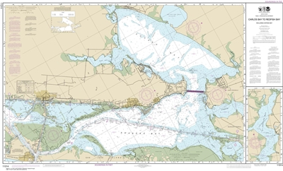 NOAA Chart 11314. Nautical Chart of Intracoastal Waterway Carlos Bay to Redfish Bay, including Copano Bay - Gulf Coast. NOAA charts portray water depths, coastlines, dangers, aids to navigation, landmarks, bottom characteristics and other features, as wel