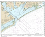 NOAA Chart 11316. Nautical Chart of Matagorda Bay and approaches - Gulf Coast. NOAA charts portray water depths, coastlines, dangers, aids to navigation, landmarks, bottom characteristics and other features, as well as regulatory, tide, and other informat