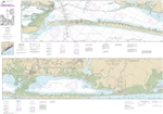 NOAA Chart 11319. Nautical Chart of Intracoastal Waterway Cedar Lakes to Espiritu Santo Bay - Gulf Coast. NOAA charts portray water depths, coastlines, dangers, aids to navigation, landmarks, bottom characteristics and other features, as well as regulator