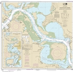 NOAA Chart 11329. Nautical Chart of Houston Ship Channel Alexander Island to Carpenters Bayou - San Jacinto and Old Rivers - Gulf Coast. NOAA charts portray water depths, coastlines, dangers, aids to navigation, landmarks, bottom characteristics and other