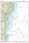 NOAA Chart 11502. Nautical Chart of Doboy Sound to Fernandina - East Coast. NOAA charts portray water depths, coastlines, dangers, aids to navigation, landmarks, bottom characteristics and other features, as well as regulatory, tide, and other information