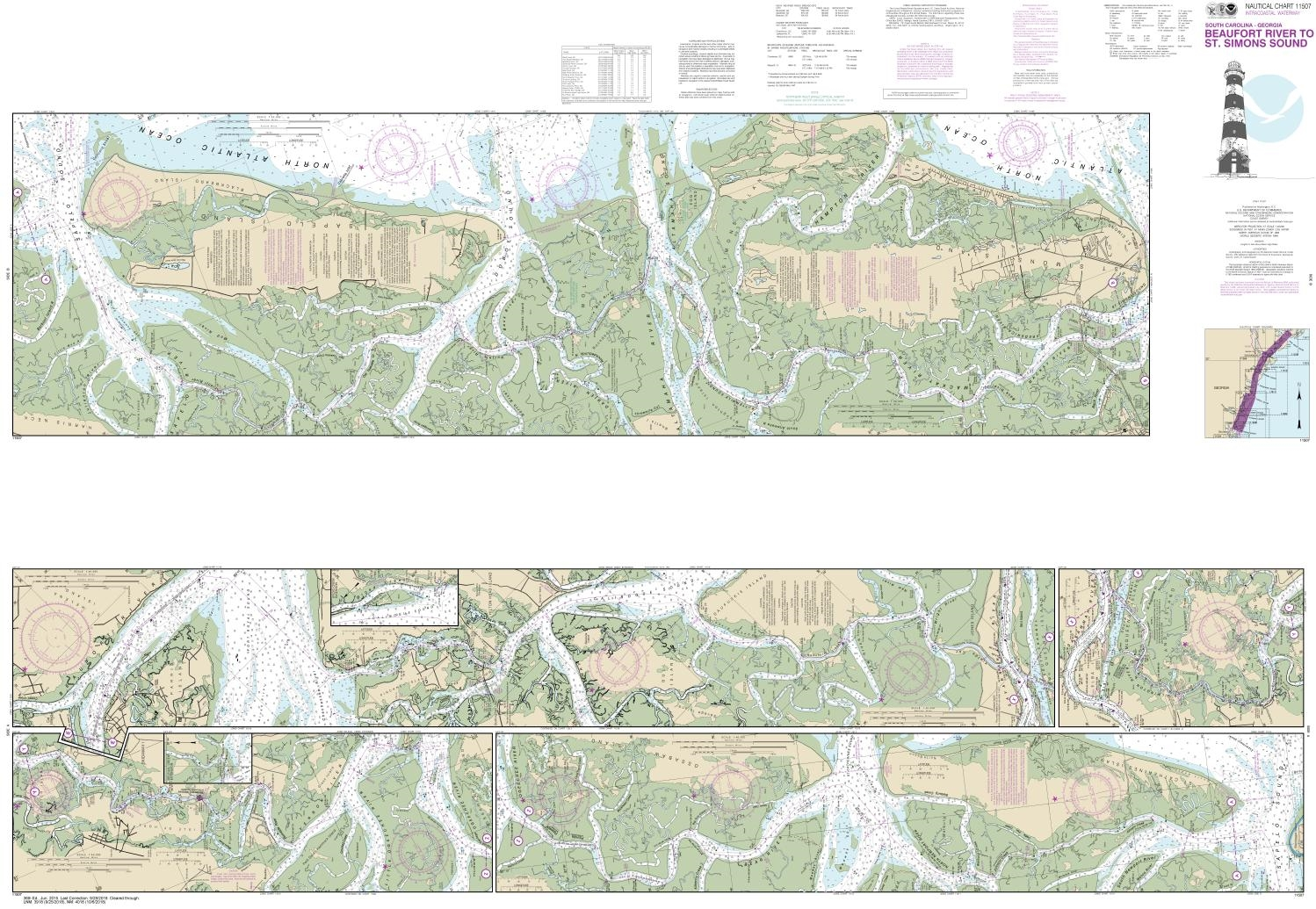 11507 Intracoastal Waterway Beaufort River to St Simons Sound - East Coast  Nautical Chart