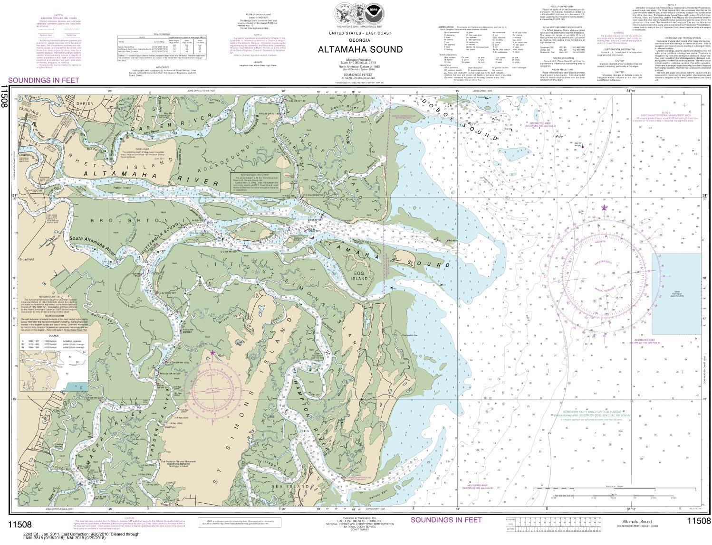 11508 Altamaha Sound - East Coast Nautical Chart