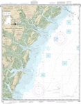 NOAA Chart 11509. Nautical Chart of Tybee Island to Doboy Sound - East Coast USA. NOAA charts portray water depths, coastlines, dangers, aids to navigation, landmarks, bottom characteristics and other features, as well as regulatory, tide, and other infor