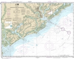 NOAA Chart 11521. Nautical Chart of Charleston Harbor and Approaches - East Coast USA. NOAA charts portray water depths, coastlines, dangers, aids to navigation, landmarks, bottom characteristics and other features, as well as regulatory, tide, and other