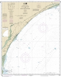 NOAA Chart 11535. Nautical Chart of Little River lnlet to Winyah Bay Entrance - East Coast USA. NOAA charts portray water depths, coastlines, dangers, aids to navigation, landmarks, bottom characteristics and other features, as well as regulatory, tide, a