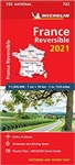 France Reversible Travel & Road map. Updated annually, MICHELIN National Map 722 France - reversible will give you an overall picture of your journey thanks to its clear and accurate mapping scale 1:1,000,000. Our map will help you easily plan your safe a