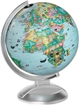 Kids Globe with Animals - 10 Inch diameter. The capacity to wonder is not learned. It's there from the beginning. Which is why this 10 inch diameter illuminated globe, with more than 100 drawings of people, landmarks, and animals, is a perfect companion t