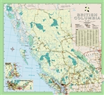 British Columbia Regional Wall Map. Shows all current roads, highways and parks in BC. A city index allows for easy referencing of any BC community. This comprehensive map is printed on a heavy matte stock with easy to read text.
