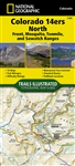 1302 Colorado 14ers North National Geographic Trails Illustrated