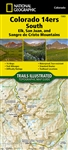 1303 Colorado 14ers South National Geographic Trails Illustrated