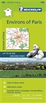 106 - France - Paris Vicinity travel map. The MICHELIN zoom map Environs of Paris is the ideal travel companion to fully explore Paris and its surrounding areas, thanks to its easy-to-use format and its scale of 1:100,000. In addition to Michelin's clear