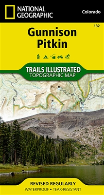 132 Gunnison Pitkin National Geographic Trails Illustrated