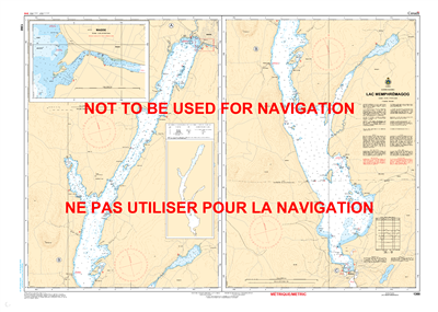 1360 - Lac Memphremagog - Canadian Hydrographic Service (CHS)'s exceptional nautical charts and navigational products help ensure the safe navigation of Canada's waterways. These charts are the 'road maps' that guide mariners safely from port to port. Wit