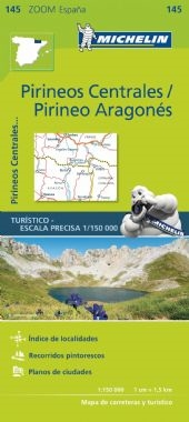 145 - Spain - Pyrenees Centrales map. MICHELIN zoom map Pirineos Centrales is the ideal travel companion to fully explore the Spanish central Pyrenees thanks to its easy-to-use format and its scale of 1/150,000. Includes Bearn, Bigorre and Aragon. In addi