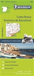Spain 147 Environs de Barcelone Costa Brava Michelin Map