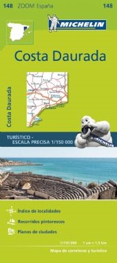 MICHELIN zoom map Costa Dorada is the ideal travel companion to fully explore the Spanish Gold Coast, thanks to its easy-to-use format and its scale of 1/150,000. The Zoom collection are characterized by the high precision of their detailed scale, special