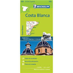 123 - Spain - Costa Blanca travel map. MICHELIN zoom map Costa Blanca is the ideal travel companion to fully explore this Spanish destination, thanks to its easy-to-use format and its scale of 1/130,000. In addition to Michelin's clear and accurate mappin