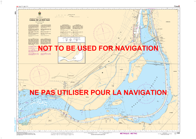1429 - Canal de la Rive Sud- Canadian Hydrographic Service (CHS)'s exceptional nautical charts and navigational products help ensure the safe navigation of Canada's waterways. These charts are the 'road maps' that guide mariners safely from port to port.
