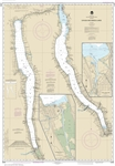 NOAA Chart 14791. Nautical Chart of Cayuga and Seneca Lakes - Watkins Glen - Ithaca. NOAA charts portray water depths, coastlines, dangers, aids to navigation, landmarks, bottom characteristics and other features, as well as regulatory, tide, and other in
