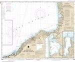 NOAA Chart 14803. Nautical Chart of Six Miles south of Stony Point to Port Bay - North Pond - Little Sodus Bay. NOAA charts portray water depths, coastlines, dangers, aids to navigation, landmarks, bottom characteristics and other features, as well as reg