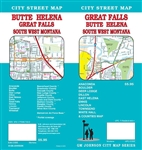 Great Falls Montana street map. Detailed street map of the Great Falls, Butte and Helena areas.