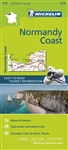 France - Normandy Coast Travel & Road Map. MICHELIN zoom map Normandy Coast is the ideal travel companion to fully explore this French destination, thanks to its easy-to-use format and its scale of 1:150,000. Covers Dieppe, Rouen, Caen, St-Lo The Zoom col
