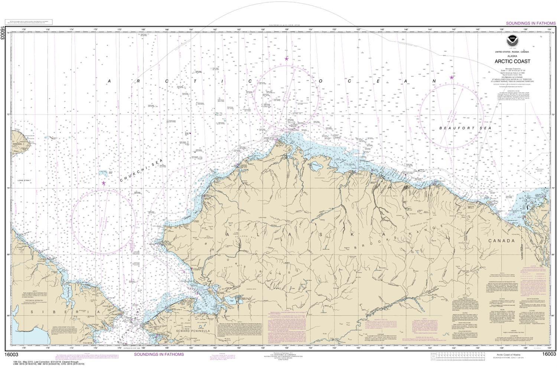16003 Arctic Coast - Alaska Nautical Chart