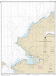 NOAA Chart 16005. Nautical Chart of Cape Prince of Wales to Pt. Barrow. NOAA charts portray water depths, coastlines, dangers, aids to navigation, landmarks, bottom characteristics and other features, as well as regulatory, tide, and other information. Th