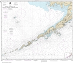 NOAA Chart 16011. Nautical Chart of Alaska Peninsula and Aleutian Islands to Seguam Pass. NOAA charts portray water depths, coastlines, dangers, aids to navigation, landmarks, bottom characteristics and other features, as well as regulatory, tide, and oth