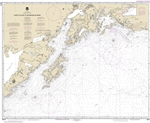 NOAA Chart 16013. Nautical Chart of Cape St. Elias to Shumagin Islands - Semidi Islands. NOAA charts portray water depths, coastlines, dangers, aids to navigation, landmarks, bottom characteristics and other features, as well as regulatory, tide, and othe