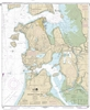 NOAA Nautical Chart 18427. Anacortes to Skagit Bay. NOAA maps portray water depths, coastlines, dangers, aids to navigation, landmarks, bottom characteristics and other features, as well as regulatory, tide, and other information. They contain all critica