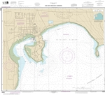 NOAA Nautical Chart 18428. Oak and Crescent Harbors. NOAA maps portray water depths, coastlines, dangers, aids to navigation, landmarks, bottom characteristics and other features, as well as regulatory, tide, and other information. They contain all critic